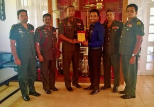 Being honored by Brigadier Commando for the motivational program